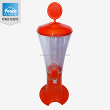 Hot sale factory price plastic beer towers with ice tube for sale