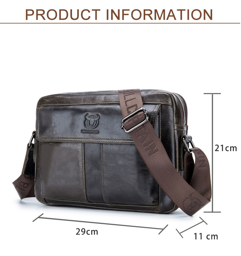 6ac59e7d26 BULLCAPTAIN Men s Briefcase Leather Genuine Leather Men Bag Men ...