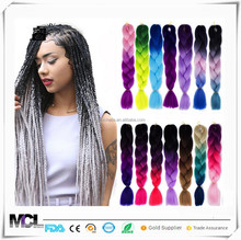 Shinny Ombre Big Braiding Hair extensions Hair Two Tone synthetic Jumbo Braid Hair Best for Twist Dreadlocks
