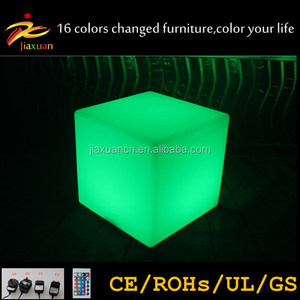 20cm LED cube lamp for table and wedding decorations