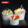 single wall cheap frozen yogurt paper cup different size ice cream paper cup