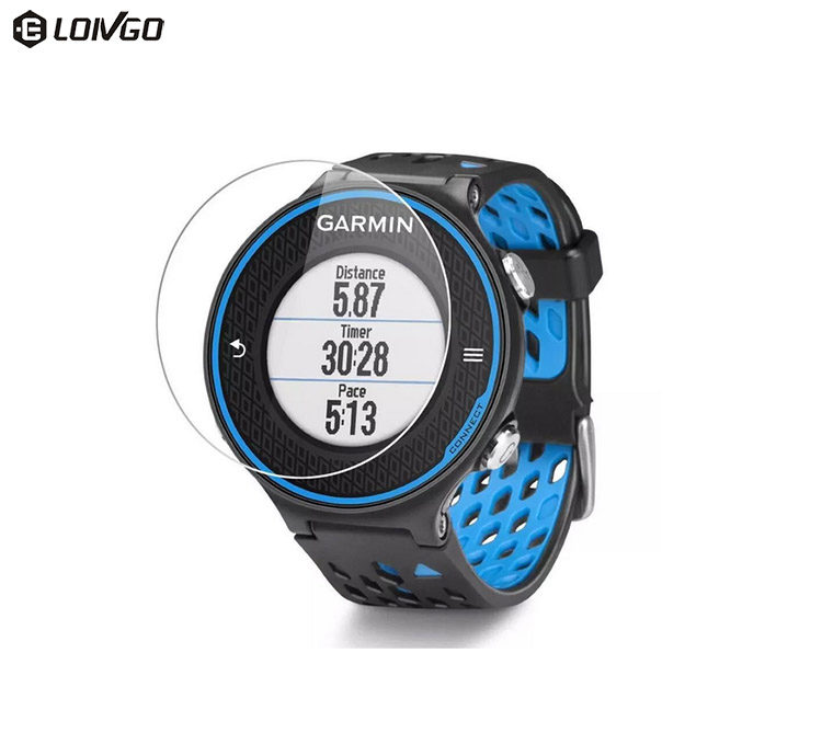Top quality tempered glass smartwatches protectors for Garmin forerunner 620/630