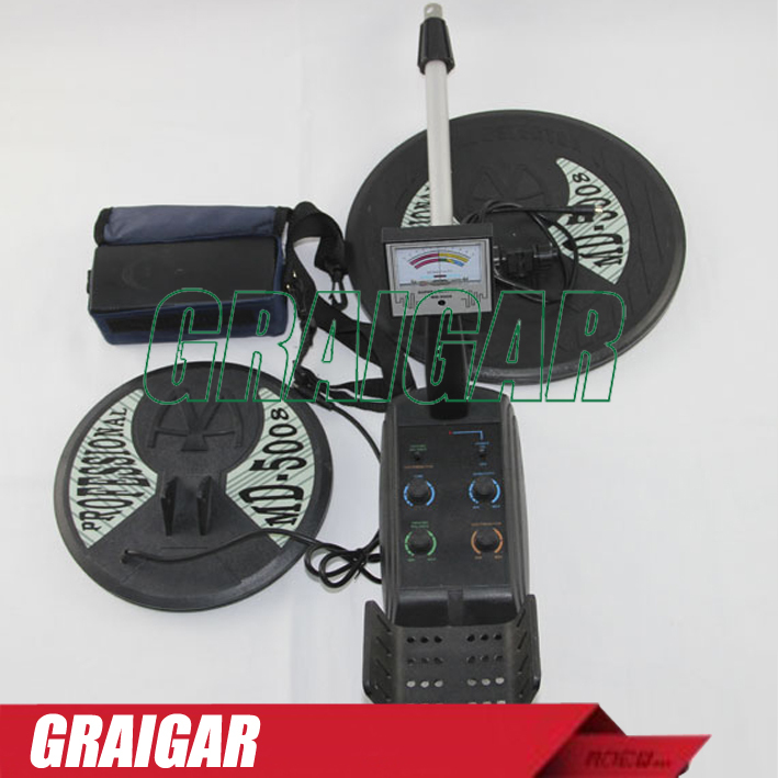 MD5008 Ground searching metal detector /gold detector /treasure hunter Big coil & small coil