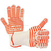 Professional Kitchen Gloves, Heat Resistant Oven Gloves Food Cooking Gloves with Silicone Grip for Barbeque