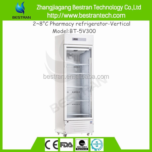 China factory brands medical 2 to 8 degree laboratory pharmacy refrigerator with freezer