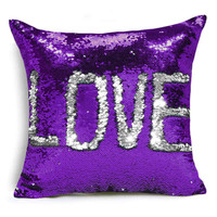 Top Quality Cheap throw baby pillows sequin mermaid cover pillow