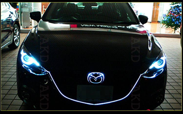 akd car styling led headlight projector for 2014 mazda 3. Black Bedroom Furniture Sets. Home Design Ideas