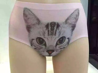 2015 New Design Lovely cat underwear and Cute kitten panty