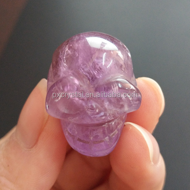 Wholesale Amethyst Mini Quartz Stone Carved Crystal Skull Healing Gemstone