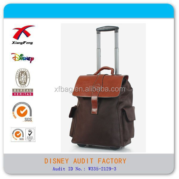 2015 XF Polyester Travel Backpack Trolley Letter Backpack With Laptop Bag