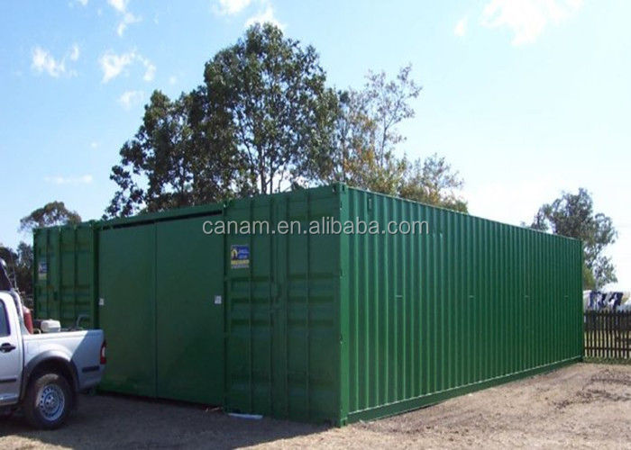 Small movable self-made container office living house with 2 windows