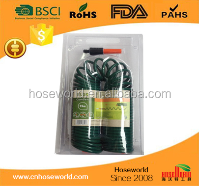 "EVA Garden Water Coiled Hose 3/8""x15m Double blister packing"