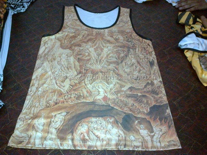 Perfect Design Comfortable Wearing Men's Tank Tops with sublimation