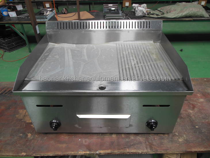 Commercial Table Top Half Flat And Half Grooved Gas