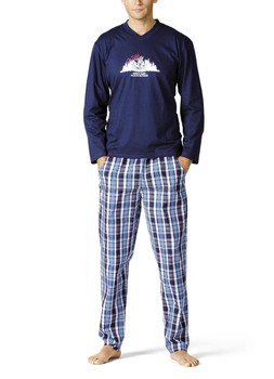 Knit / Woven Flannel Combo Pajama Set For Mens - Buy Mens Cotton ...