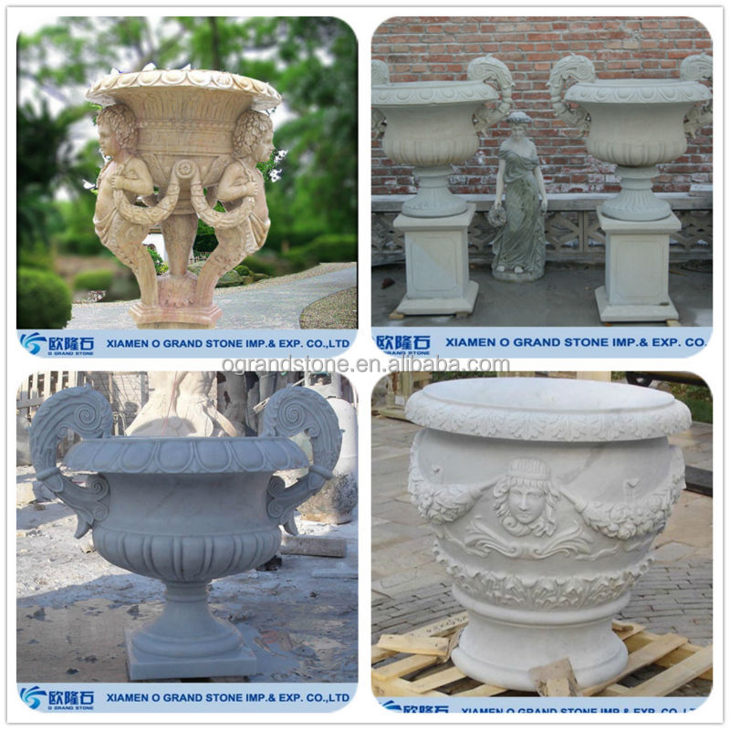 Large Garden Planters Outdoor Decor Stone Antique Garden Planters
