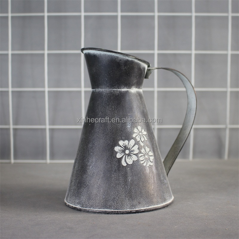 Rusty and Galvanized Water jug big bottle galvanized tin zinc garden plant can