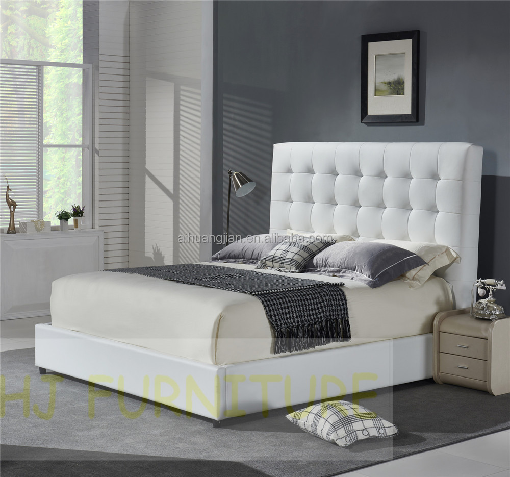 white colour genuine leather beditalian leather bed framemodern  - white colour genuine leather bed italian leather bed frame modern leatherbed top grain