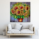Abstract Flower Canvas Printing Vincent Van Gogh Sunflower Famous Fine Art Paintings Without Frame