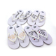 wholesale slipper for wedding,cheap beach white wedding guest favors flip flop woman