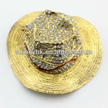be8b11c3045c6 Estilo Cowboy Chapéu Em Forma De Caixa De Jóias De Decoração Do ...