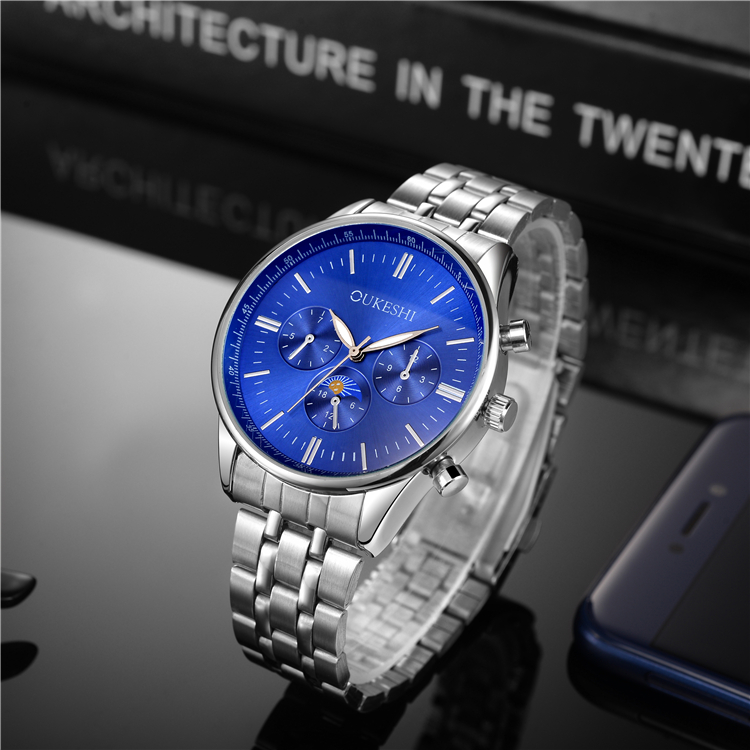 European Best Selling Fashion Brand Men Wristwatch Stainless Steel Mens Watches