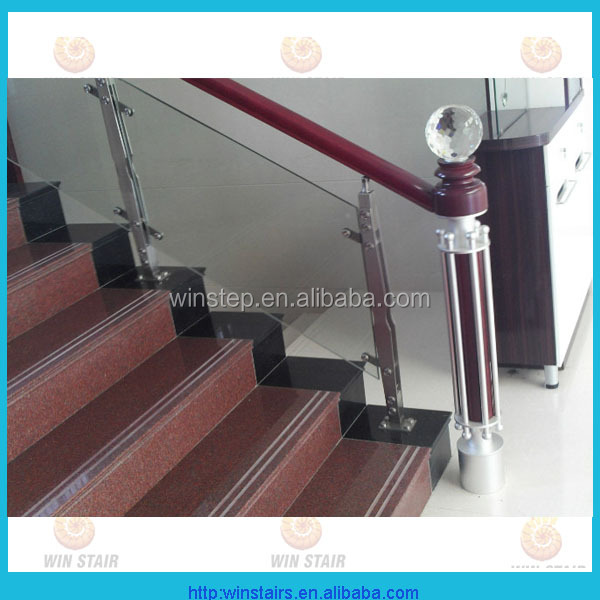 Escalier prix de garde corps en verre verre balustrade montage de main - Escalier en verre prix ...