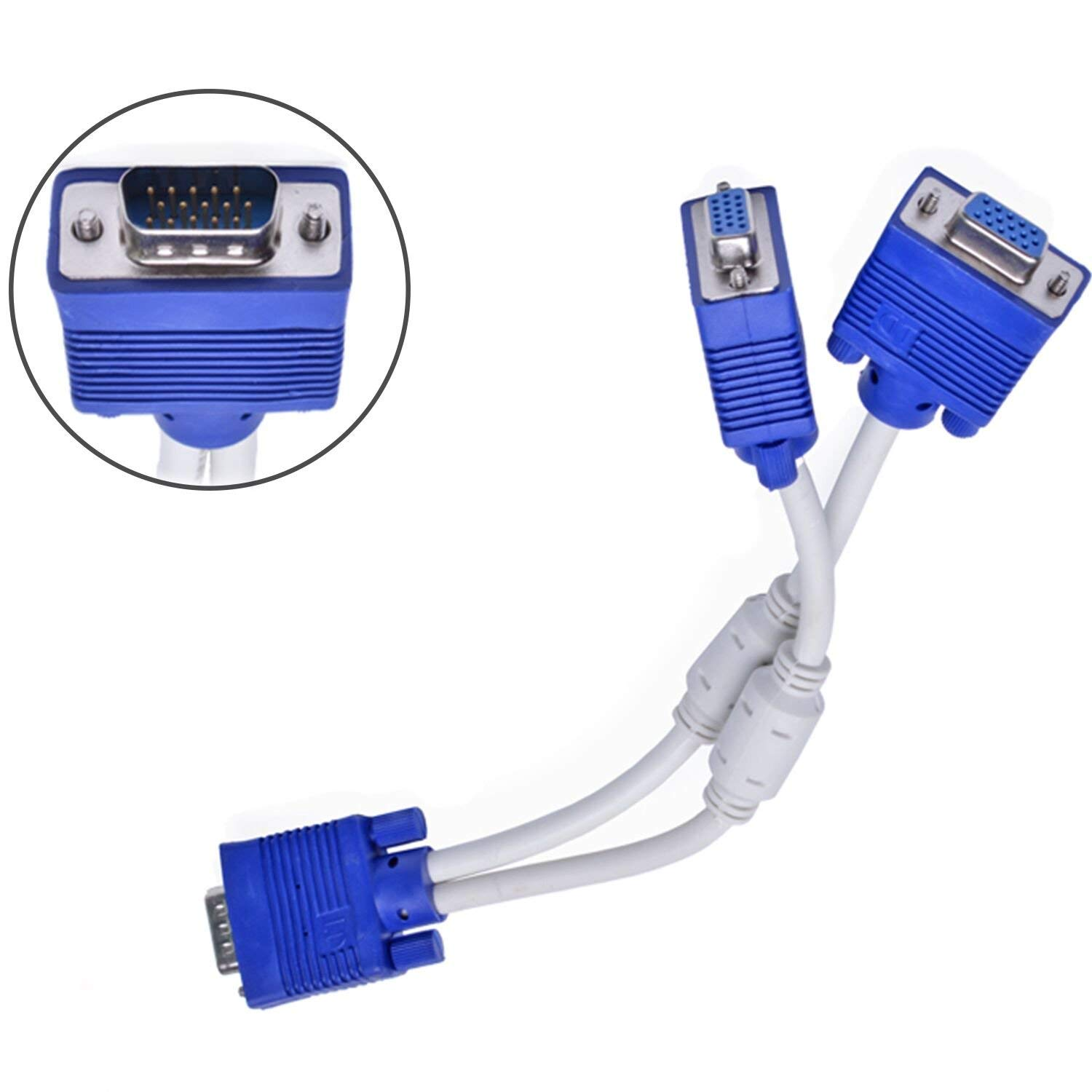 cheap dual monitor adapter vga find dual monitor adapter vga deals Dual Microphone Cable get quotations apoi 15 pin vga 1 male to dual 2 vga female monitor y adapter converter splitter