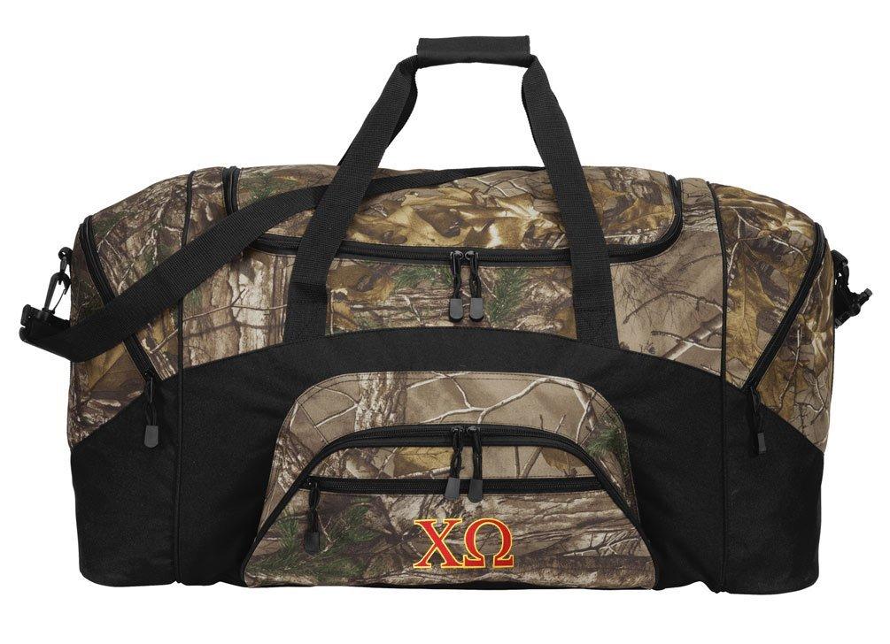 RealTree Camo Chi Omega Duffel Bag Or Camo Chi O Gym Bag
