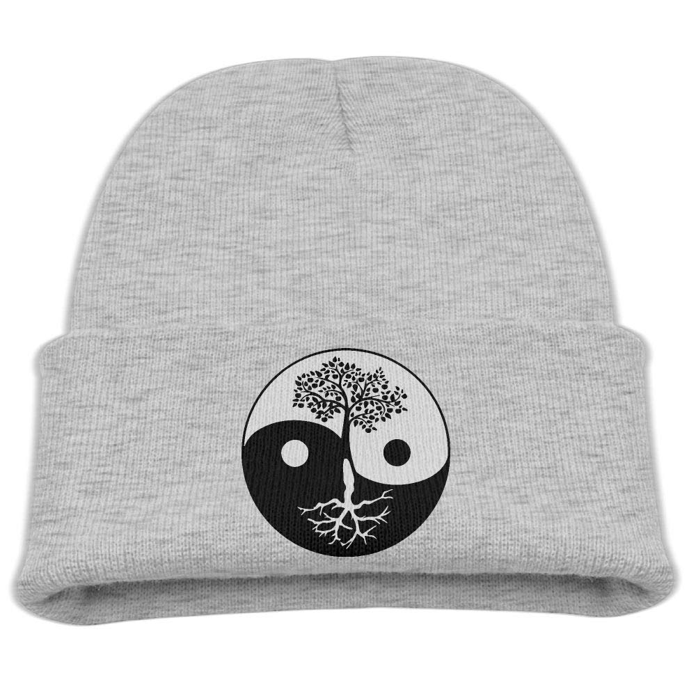 3cc66e94ad9 Get Quotations · Children s Cute Knitted Hat Yin-Yang Tree of Life Beret Cap
