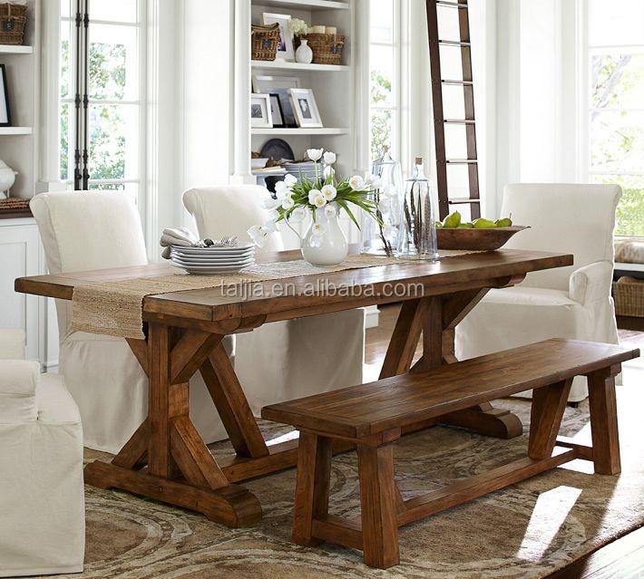 Farmhouse Style European Modern Nature Home Furniture Dining Room