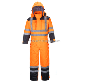 High Visibility Breathable Waterproof Jackets winter uniform reflective overall