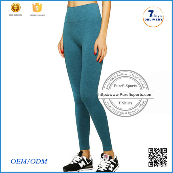 2016 Quick Drying Sports seamless fitness Pants 86% Nylon 14% Spandex Wholesale Capri Leggings Custom Design Yoga Capri Tights