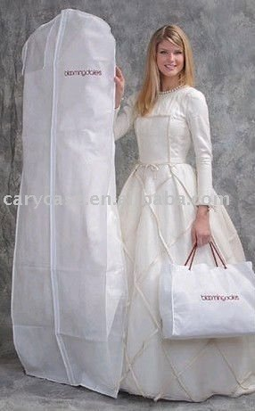 Beautiful bridal wedding suit cover / garment bag
