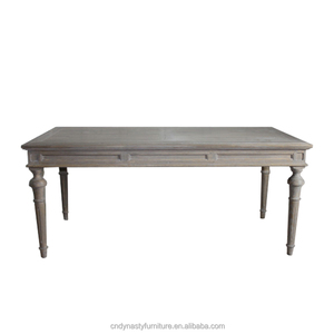 hot sale french gray wood rectangle dining table