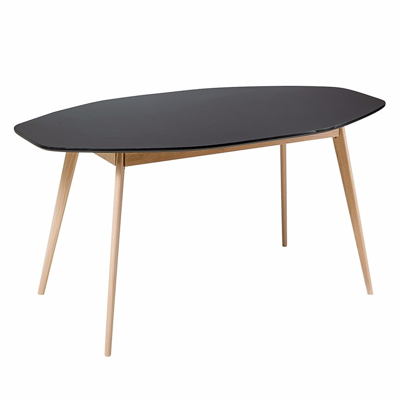 Wooden Durable expandable round dining table and chair