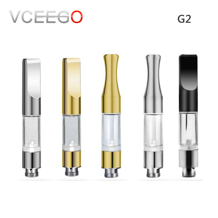 Gold vape pen ceramic coil cbd syringes 1ml glass vape cartridge with 510 thread CBD thick Oil