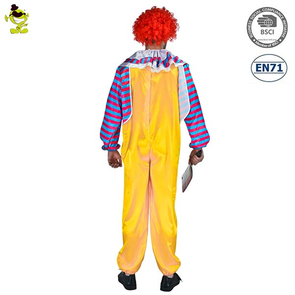 Halloween Carnival Party Cosplay Evil Clown Costume Adult Evil Cruel Clown Costumes For Men