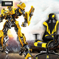 Dickson inspiration from Bumblebee yellow and black leather gaming computer chair