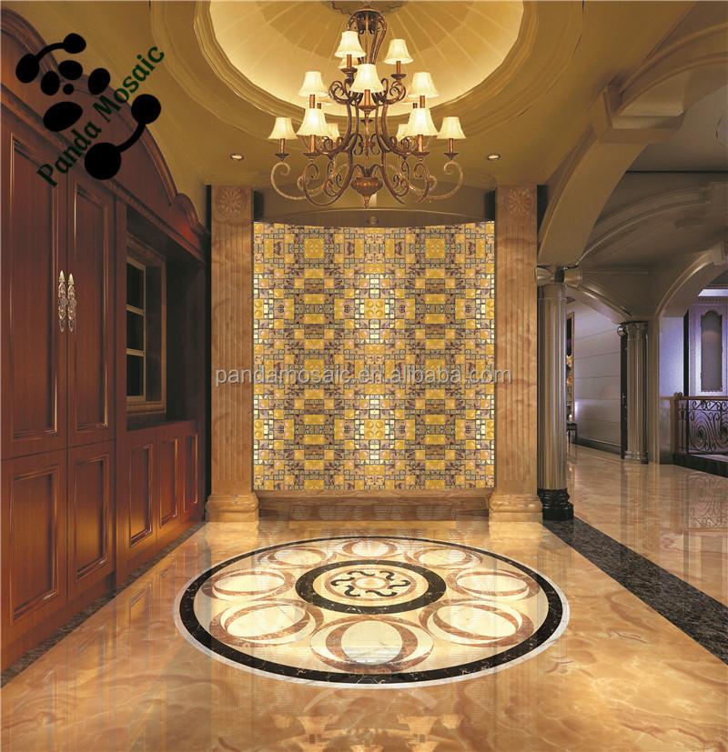 Smp24 backsplash cucina piastrelle adesivi decorativi da parete oro mosaico di vetro buy oro - Adesivi decorativi per piastrelle ...