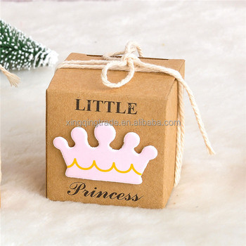 prince princess label paper candy boxes baby shower birthday party favor box new year decoration event