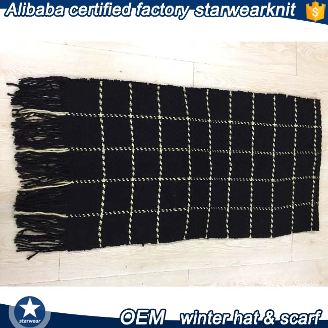 High-quality custom winter woven scarf for adult