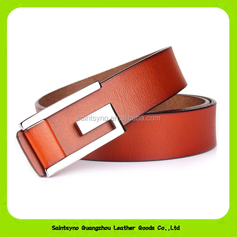 "Fine Men's Dress Belt Leather Reversible 1.25"" Wide Rotated Buckle Gift Box 16296"