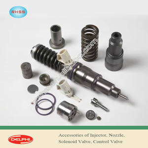 DELPHI Common rail diesel injector assembly,nozzle,solenoid valve,control valve parts for diesel engine