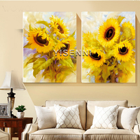 YISENNI modern sunflower painting by number for home decoration