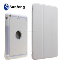 Sanfeng manufacture folding white skin cover case for ipad mini 3