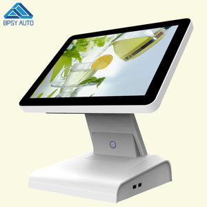 "OEM Fanless Design 12"" J1800 CPU True Flat Multi Point Touch All In One Cash Register POS System"