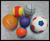 Custom Football soccer Basketball Tennis ball Shaped stress balls