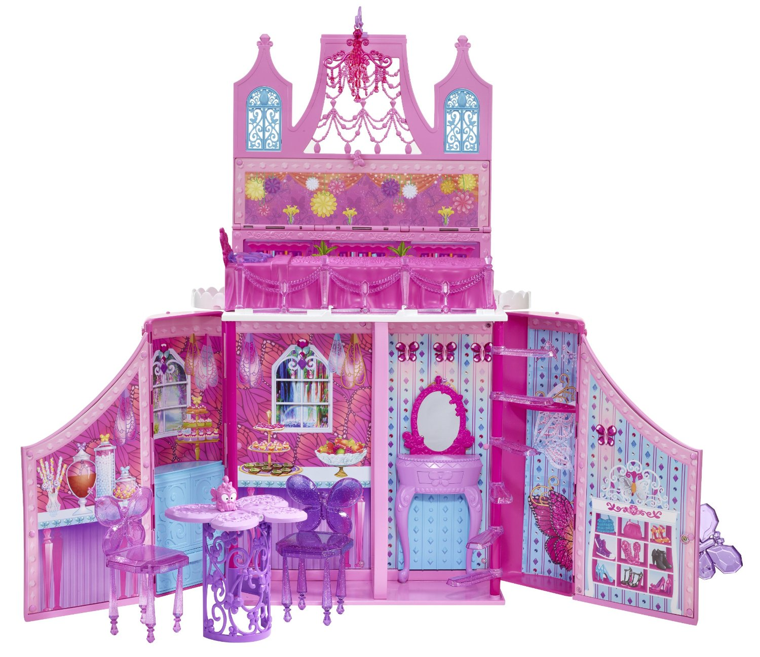 Buy Barbie Mariposa And The Fairy Princess Castle Playset With Mini