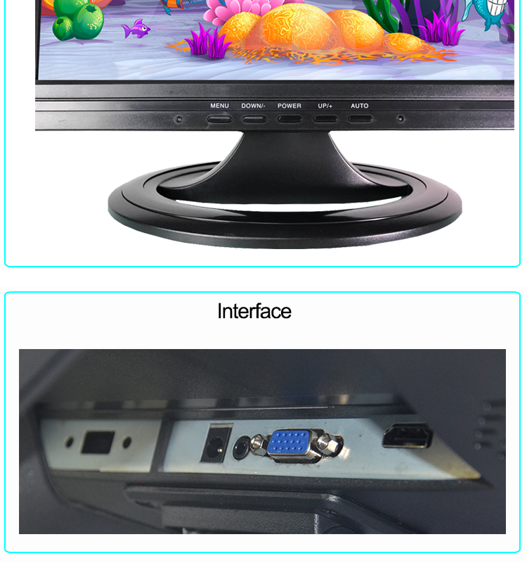 Square Screen 15 Inch TFT LCD HDMIED PC Monitor 12V DC Input Supplier China
